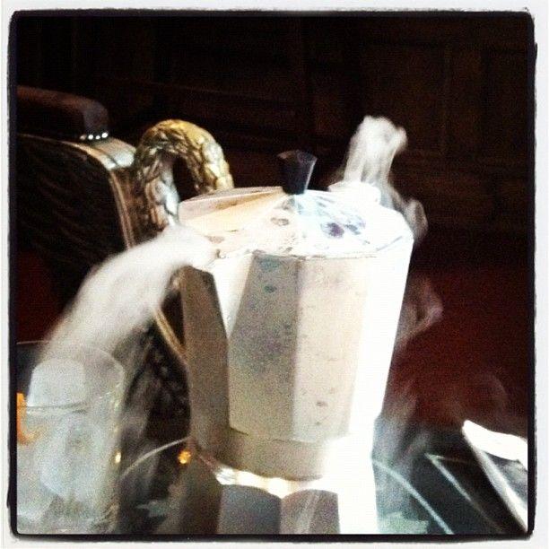 """Coffee-themed molecular cocktail at Bohemia Brighton"" via @rhortal"