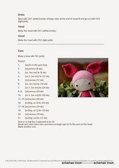 LalyLala - Modification Pattern for Piglet - gurumi var - Picasa Web Album