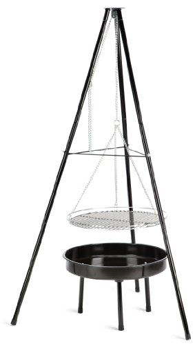 Landmann Tripod Charcoal Barbecue. An affordable piece of kit for campfire cooking.