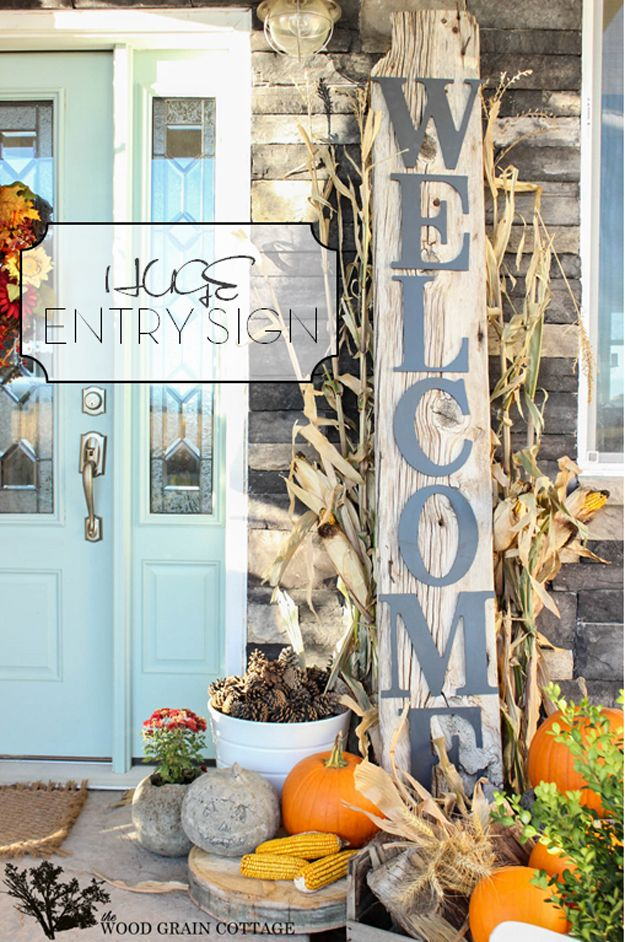 Huge Entry Sign DIY | How to Add Instant Curb Appeal Makeover by DIY Ready at  http://diyready.com/diy-ideas-home-improvement-on-a-budget/