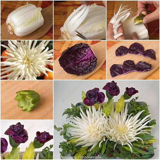 How to Make Beautiful Cabbage Flower Bouquet tutorial and instruction. Follow us: www.facebook.com/fabartdiy
