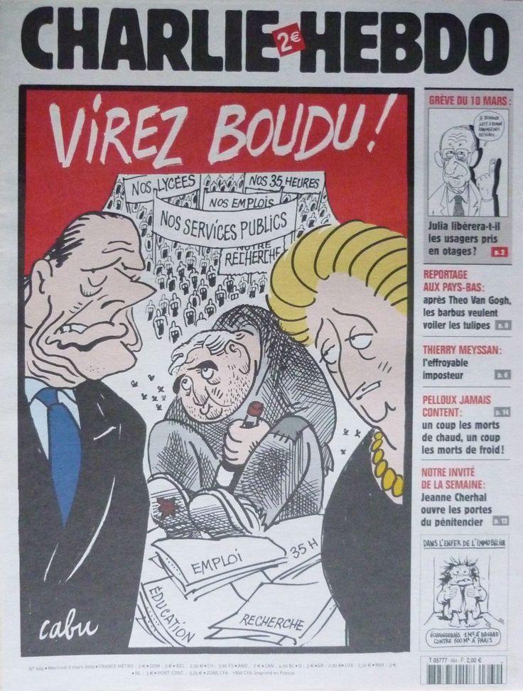 Charlie Hebdo - # 664 - 9 Mars 2005 - Couverture : Cabu