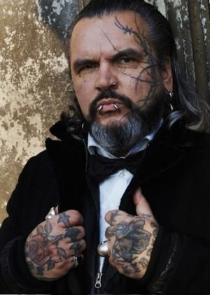 """Berghain """"scaring"""" Bouncer - Sven Marquardt. I suggested he let the next guy in cause he seemed nice. He said """"if we let all the nice people in..."""""""