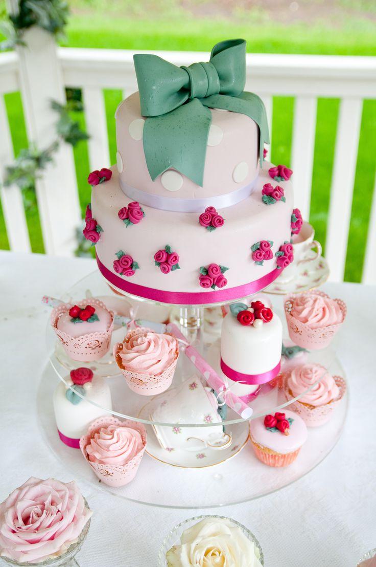 Cath Kidston Style Wedding Cake