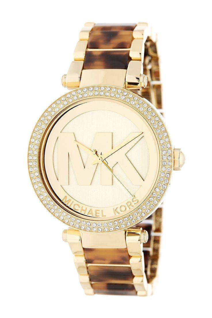Women's Parker Logo Dial Crystal Embellished Bracelet Watch