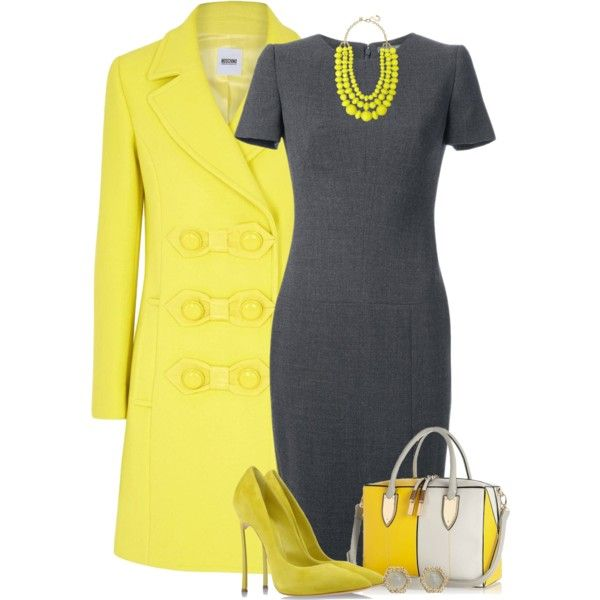A fashion look from September 2014 featuring Alexander McQueen dresses, Moschino Cheap & Chic coats and Casadei pumps. Browse and shop related looks.