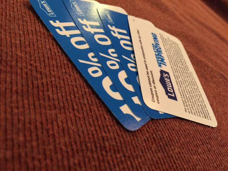 Coupons: 5 Lowes 10%-Off-Coupons Blue Cards Save Up To $500 Each! Work At Lowes! Exp 5/31 -> BUY IT NOW ONLY: $10.99 on eBay!