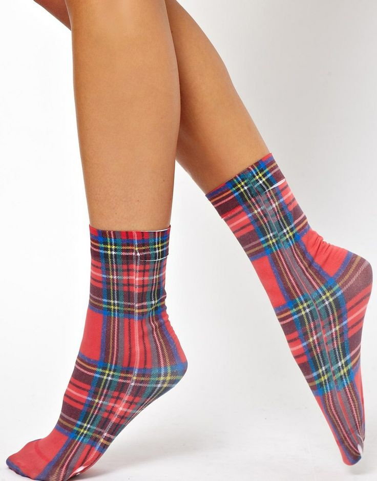 Tartan Ankle Socks