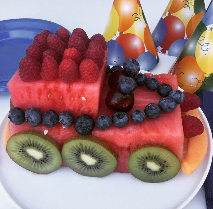 Watermelon Car Cake.  This easy watermelon carving is the perfect fun, fresh and healthy cake!