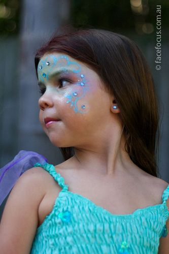 Halloween, mermaid, face paint, makeup, toddler girl costume, Mermaid face painting | Flickr - Photo Sharing!