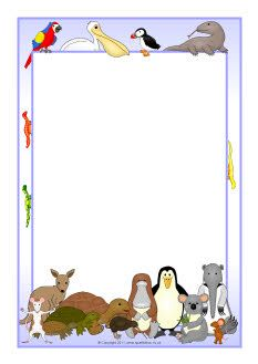 The Great Pet Sale A4 page borders (SB7543) - SparkleBox
