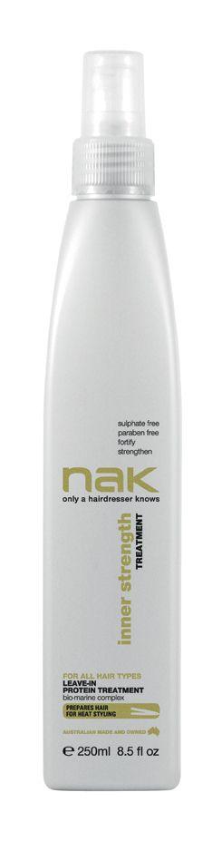 nak inner strength treatment / designed for all hair types #sulphatefree #parabenfree #fortify #strengthen