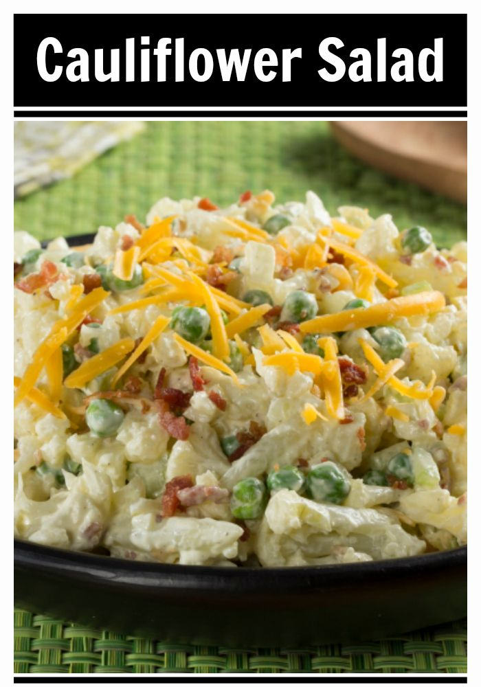 Our diabetic-friendly Cauliflower Salad will surely get you in a springtime mood!