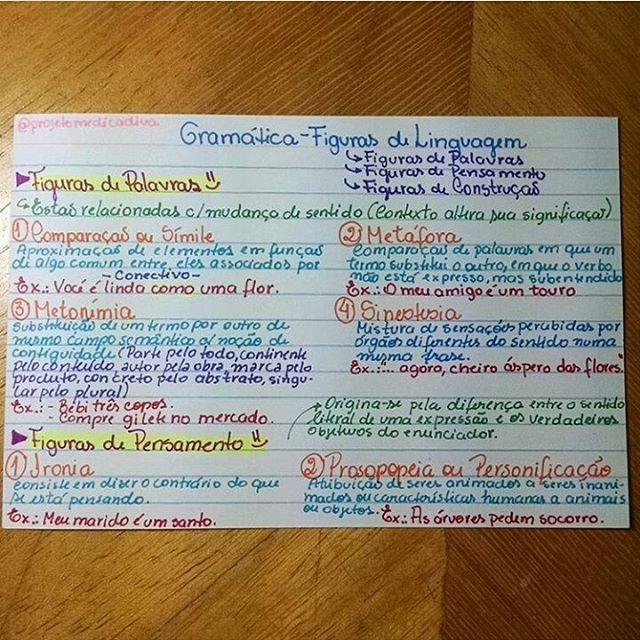 Gramática - Figuras de linguagem 1.