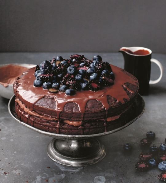 "Anna Jones shares a cloud-like chocolate cake that's just as nourishing as it is delicious from her cookbook ""A Modern Way To Eat."""