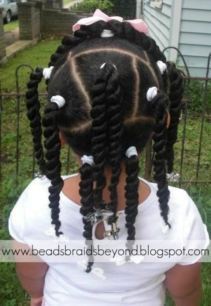 Lots of ponytails and twists insteads of braids