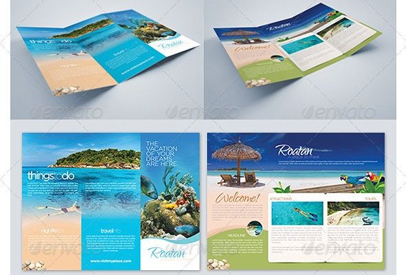 Beach Tri-fold Best Travel Brochure Zox Design Design - travel brochure