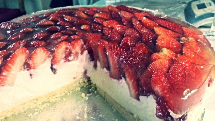Lehký jakodový dort Light strawberry cake  sjidelnicek.cz/recepty/jahodovy-kolac/