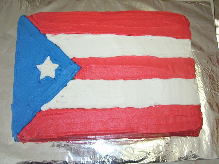 Flag of Puerto Rico for an end-of-year soccer team celebration.