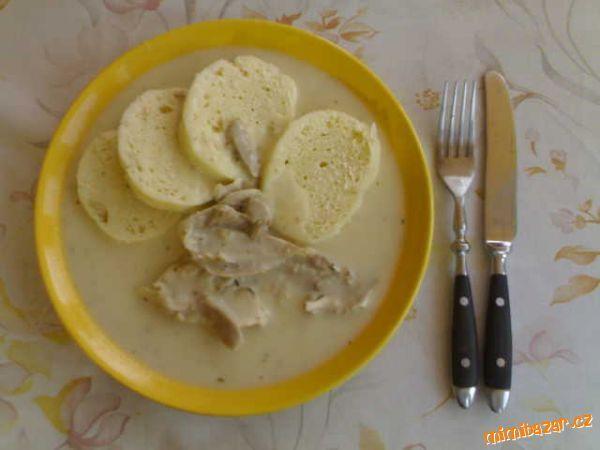 BÍLÁ OMÁČKA výborná blesková lahůdka (kuřecí maso,anglická,tymián,smetana)