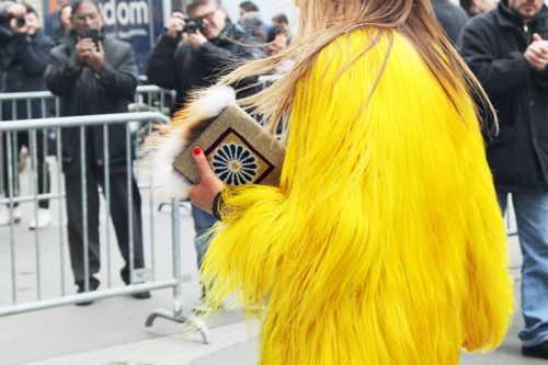 .: Yellow Fashion, Fur Coats, Fur Jackets, Fashion Style, Color, Street Style, Big Birds, Yellow Coats, Anna The Russian