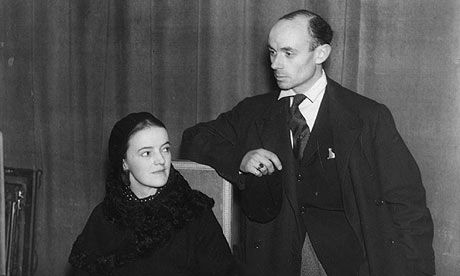Ben Nicholson with his second wife, sculptor Barbara Hepworth