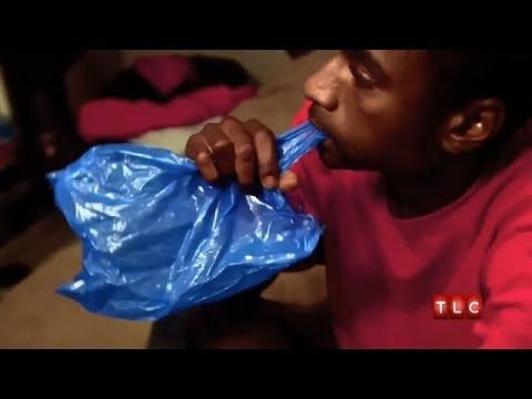 A 23-year-old man who's addicted to eating plastic newspaper bags. | For more My Strange Addiction, visit http://tlc.howstuffworks.com/tv/my-strange-addictio...