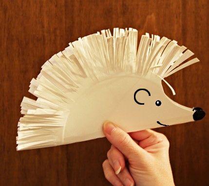 Таралеж http://www.purvite7.bg/files/herisson-assiette-papier.jpg