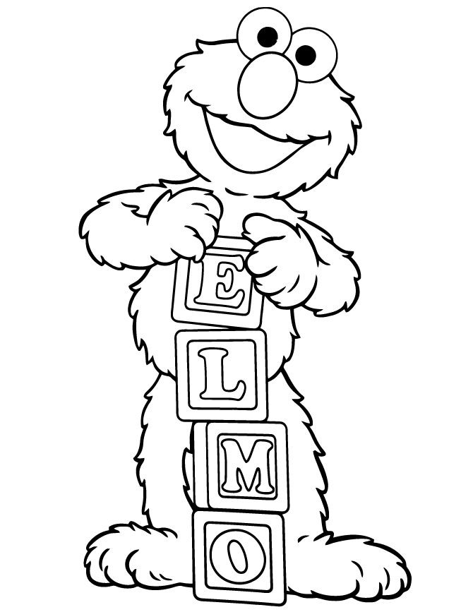 20 best images about Elmo Coloring
