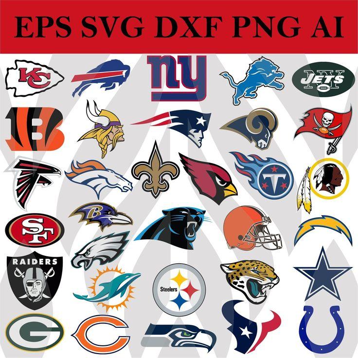 NFL All Team Logos Svg Football Svg files for cricut