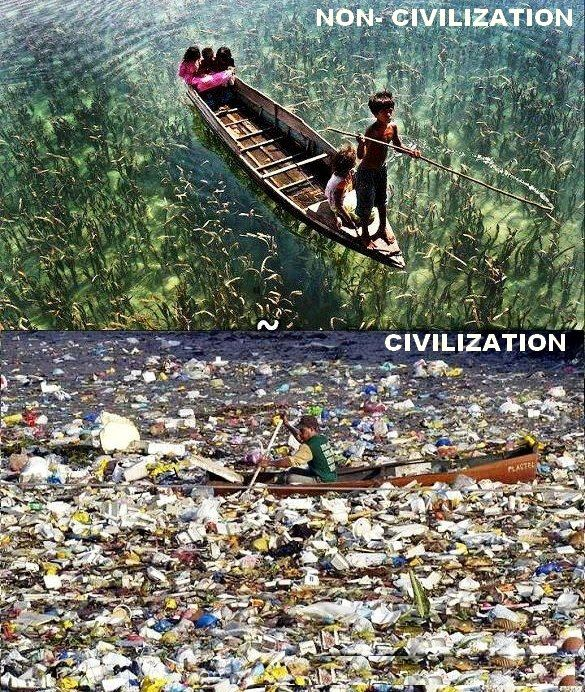 Difference between #Civilized and #Uncivilized societies..!!   Stop pollution, Save Environment, Save Earth.