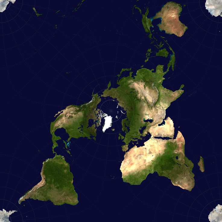 world map using Peirce quincuncial projection 16