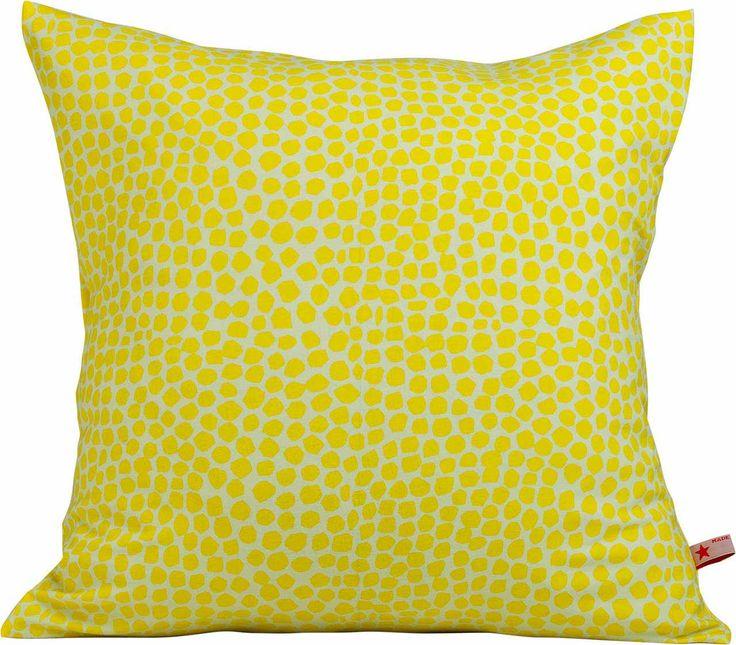 Kissen aus leuchtenden gelben Jersey - schön für das Wohnzimmer, die Küche oder auch für den Garten.  Stoffart: Jersey  Größe: 40cm x 40 cm