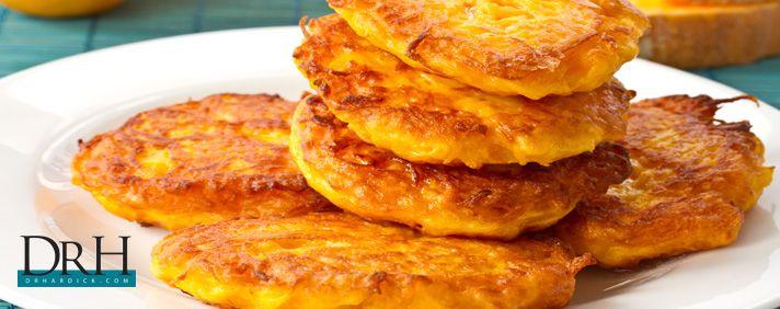 Squash Pancakes #glutenfree #grainfree http://DrHardick.com