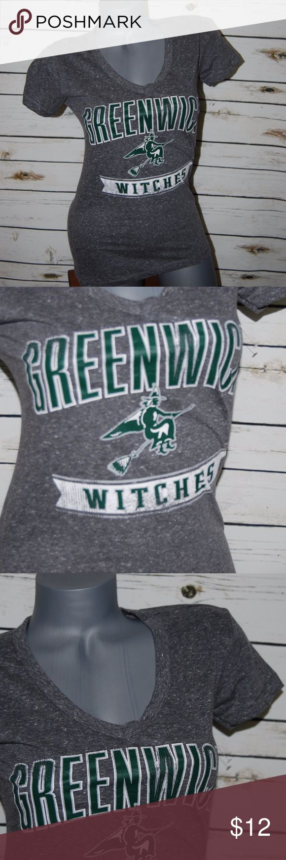 T-shirt Gray Greenwich Witches Small V Neck NWOT Greenwich Witches Size: Small Please see pictures for measurements V Neck Short Sleeve New without Tags Tops Tees - Short Sleeve