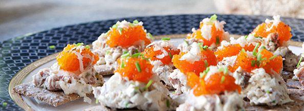 Vegtariska snittar med tångkaviar - Hälsans Kök