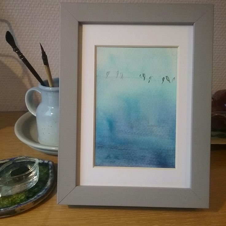 Meeting #watercolor #painting #winter #art by Hannele Rajala