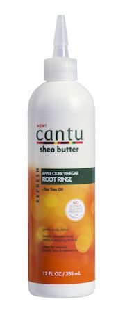 Cantu Root Rinse is made with apple cider vinegar, tea tree oil and shea butter – a deeply cleansing yet nourishing cocktail that replaces your shampoo when you need a deeper scalp detox and extra conditioned strands. Rinse away the old and bring on the new revealing stronger, healthier hair with a natural shine. No mineral oil, sulfates, parabens, silicones, phthalates, gluten, paraffin or propylene.