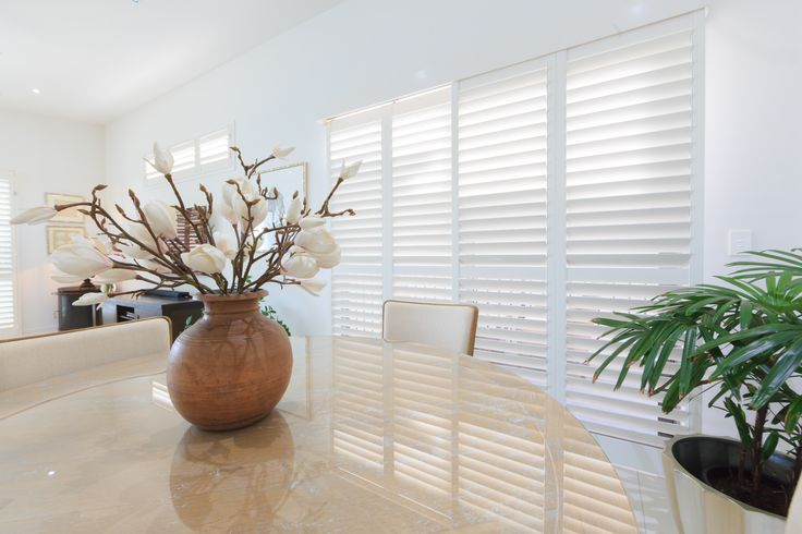 dining room thermalite plantation shutters