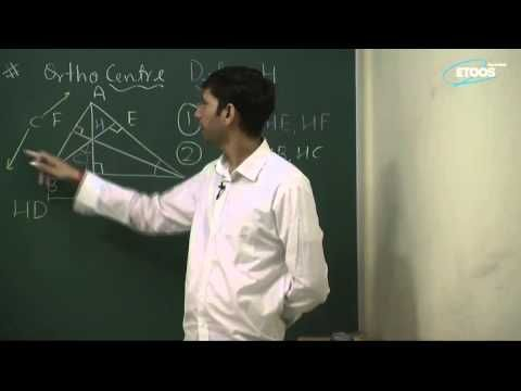 distance of ortho center from sides and vertices of a triangle