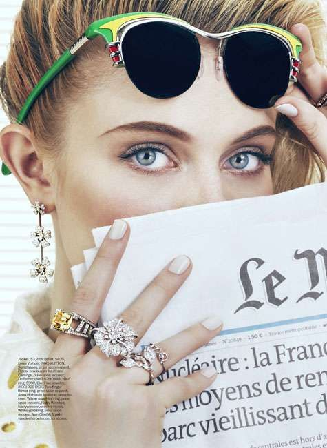 Workplace Accessory Shoots  The 'Office Supplies' Marie Claire US Editorial is Ornate #accessories #jewelry #marieclaire