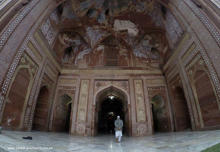 Entrada a la gran Mezquita de Jama Masjid en Fatehpur Sikri