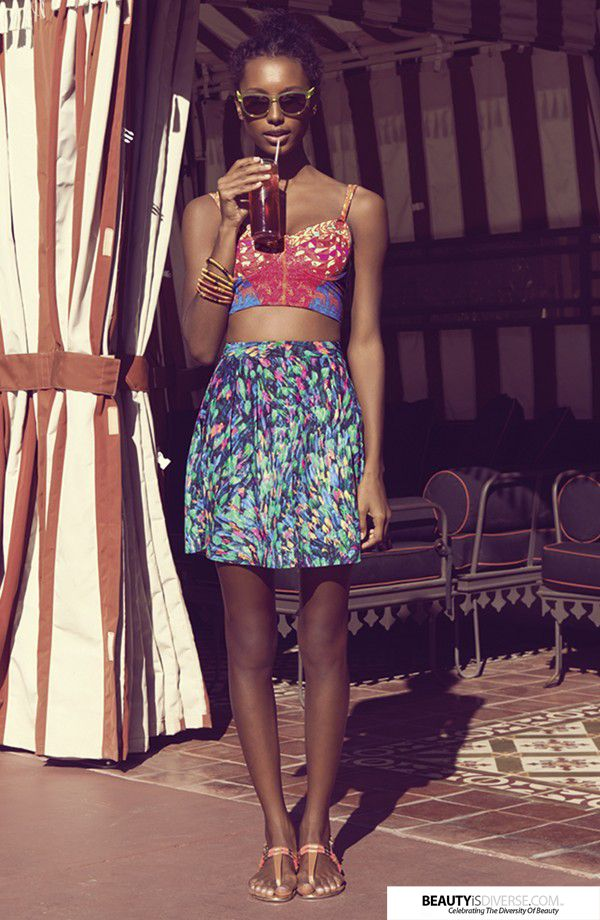 Jasmine Tookes is featured in the Nordstrom Vacation Nation Catalog