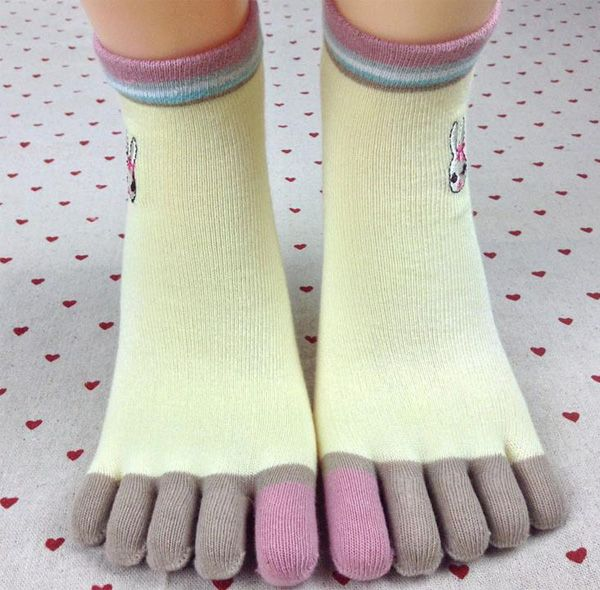 Find More Socks Information about 11.11 Sales Promotion New cartoon rabbit embroidery Ms. toe socks toe socks full cotton socks autumn and winterr(5pair/lot),High Quality socks toe socks,China toe socks Suppliers, Cheap cotton socks from INNI Store on Aliexpress.com