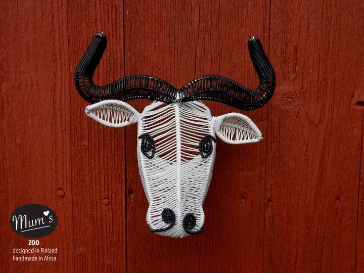 Mum's bull black & white size M.  MUM's ZOO is designed by MUM's in Finland.