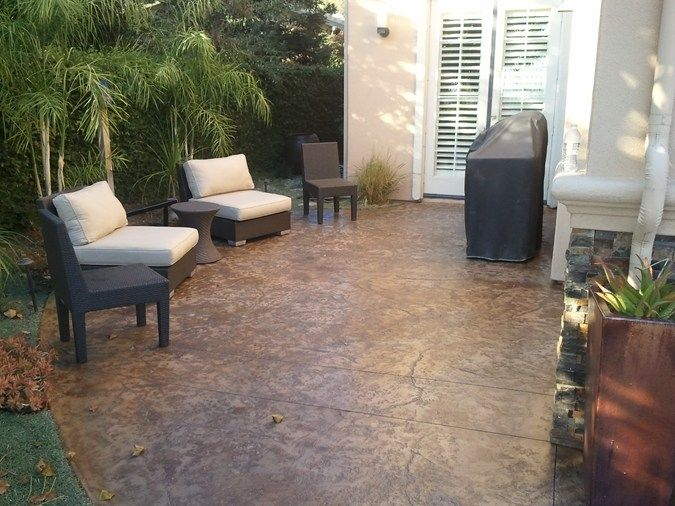 24 best stamped concrete ideas images on pinterest | backyard ... - Patio Concrete Stain Ideas