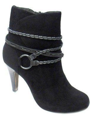 23214, Richelieus Femme, Noir (Black Patent), 38 EUTamaris