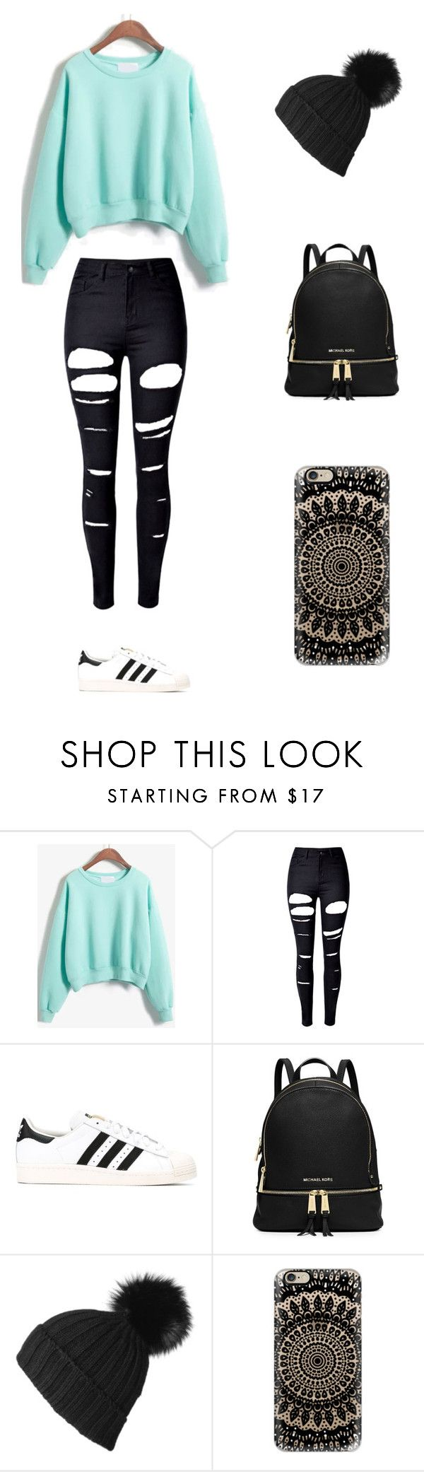"""""""Sin título #239"""" by karenrodriguez-iv on Polyvore featuring moda, WithChic, adidas Originals, Black y Casetify"""