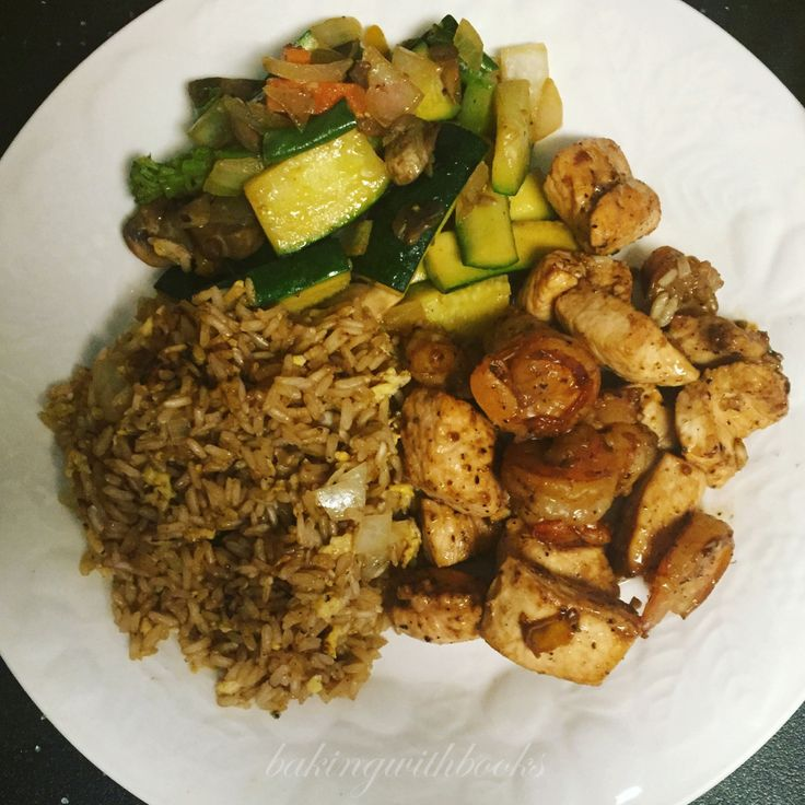 Homemade Chicken and Shrimp Hibachi