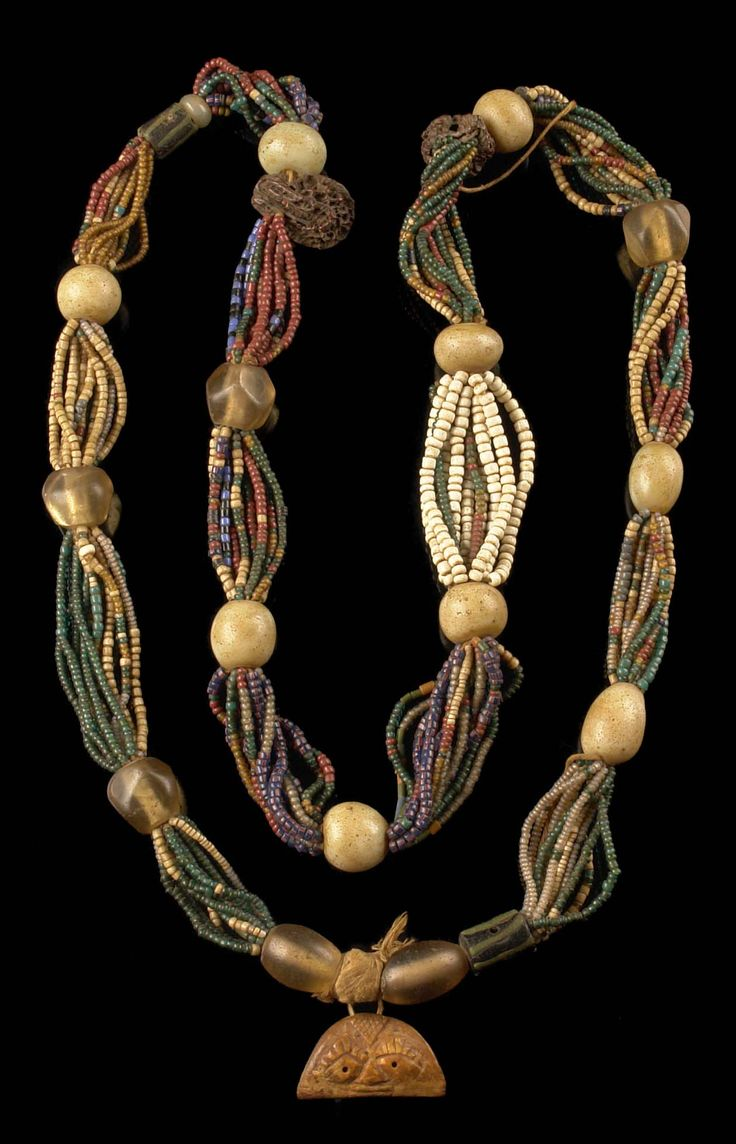 "Africa | Ifa priest's necklace ""odigba ifa"" from the Yoruba people of Nigeria 